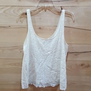 American Eagle Lace Tank with Back Zipper Detail
